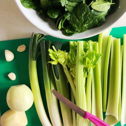 Spring Sgreen Soup Ingredients
