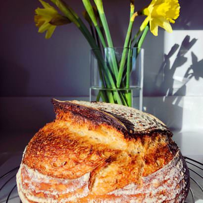 Sourdough Bread and Flowers