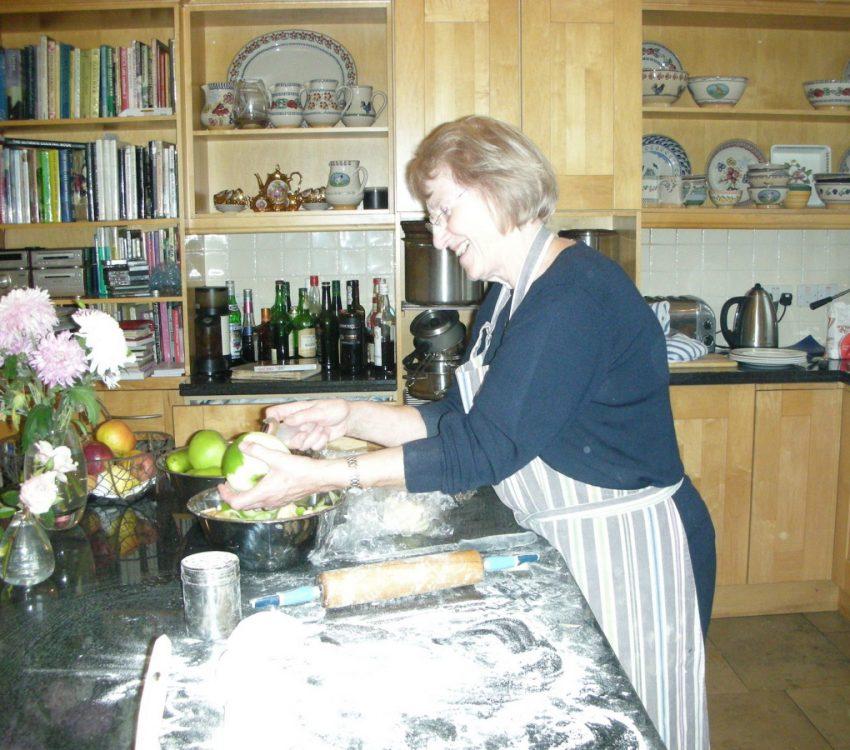 Mum Making Potato Apple Bread